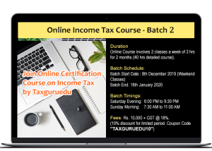 Online Income Tax Course-