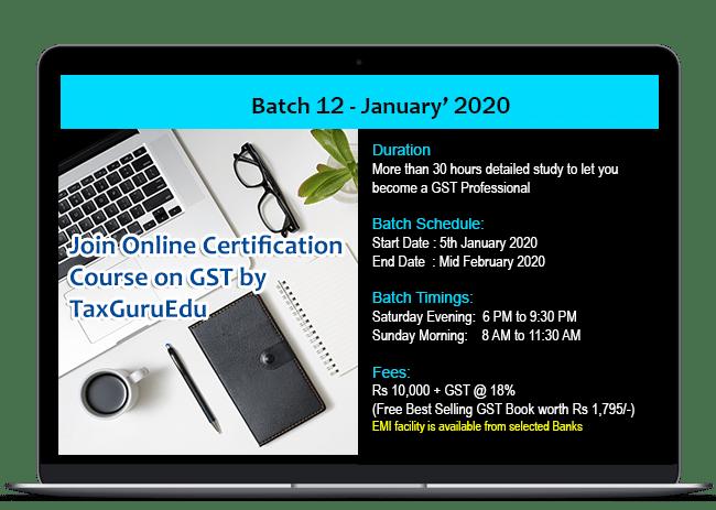 best GST Course 2020