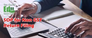 SOP for Non GST Return Filing