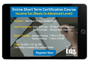 Income tax short Term course