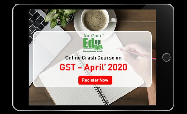 Online Crash Course on GST